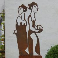 """""""Lots Weib am Schaeideweg"""", 2015Stahlblech"""